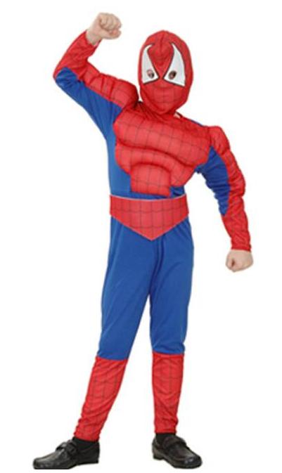 Праздничный костюм Человек паук для мальчиков с мышцами - Spiderman, Superhero, for Boy, Disney