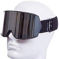 Горнолыжная маска-очки для сноуборда и лыж Лыжные очки магнитные зеркальные SPOSUNE Серый (HX010)
