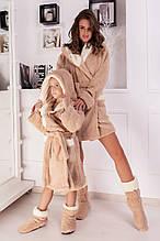 Халат махровий з чобітками для мами і доньки