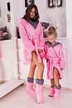 Халат махровый с сапожками для мамы и дочки, фото 3