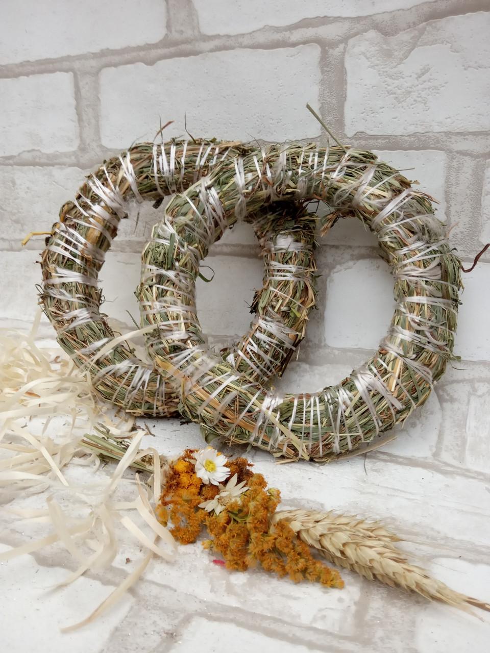 Веночек из соломы для декора дома d-15 см 20 грн