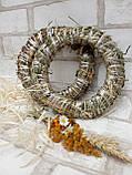 Веночек из соломы для декора дома d-15 см 20 грн, фото 5
