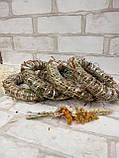Веночек из соломы для декора дома d-15 см 20 грн, фото 4