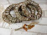 Веночек из соломы для декора дома d-15 см 20 грн, фото 2