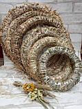 Веночек из соломы для декора дома d-15 см 20 грн, фото 6
