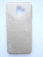 Чохол накладка Shine для Samsung J6 Plus золотий