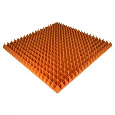 Панель из акустического поролона Ecosound Pyramid Color 70 мм, 100x100 см, оранжевая