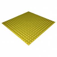 Панель из акустического поролона Ecosound Pyramid Color 20 мм, 100x100 см, желтая