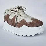 Кроссовки женские утепленные коричневые, фото 2
