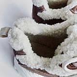 Кроссовки женские утепленные коричневые, фото 4