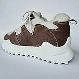 Кроссовки женские утепленные коричневые, фото 5