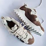 Кроссовки женские утепленные коричневые, фото 6