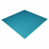 Панель из акустического поролона Ecosound Pyramid Color 20 мм, 100x100 см, синяя
