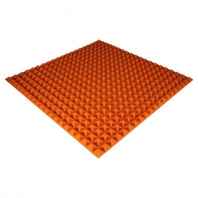 Панель из акустического поролона Ecosound Pyramid Color 25 мм, 100x100 см, оранжевая