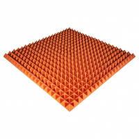 Панель из акустического поролона Ecosound Pyramid Color 50 мм, 100x100 см, оранжевая