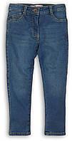 Детские джинсы для девочки синие однотонные