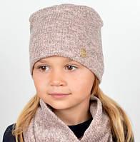 Комплект для девочки, шапка и снуд