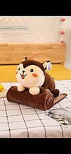 Дитячий плед іграшка Собака Хаскі