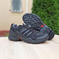 """Зимние кроссовки на меху Adidas Swift """"Черные/Серые"""", фото 3"""