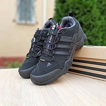"""Зимние кроссовки на меху Adidas Swift """"Черные/Серые"""", фото 2"""