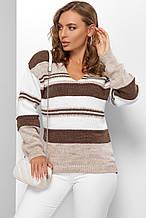 Модний джемпер Еймі коричневий (44-50)