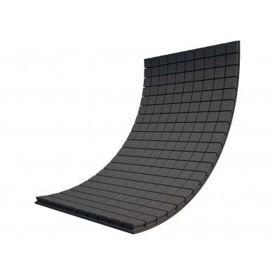 Панель из акустического поролона Ecosound Tetras Black 100x200 см, 70 мм, чёрный графит
