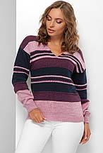 Стильний в'язаний джемпер Еймі фіолетовий (44-50)