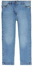 Детские джинсы для девочки светло-синие однотонные