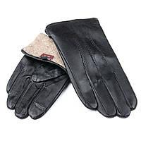 Перчатка Мужская кожа  M21/19-1 мод 3 black шерсть.Купить перчатки оптом в Украине по выгодным ценам