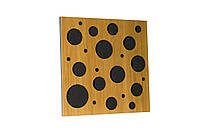 Акустическая панель Ecosound EcoBubble Cream 50х50см 53мм цвет светлый дуб, фото 1