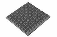 Акустическая панель Ecosound пирамида 50мм Mini,черный графит 50х50см из акустического поролона, фото 1