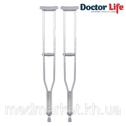 Костыли алюминиевые Doctor Life (134-154 см)