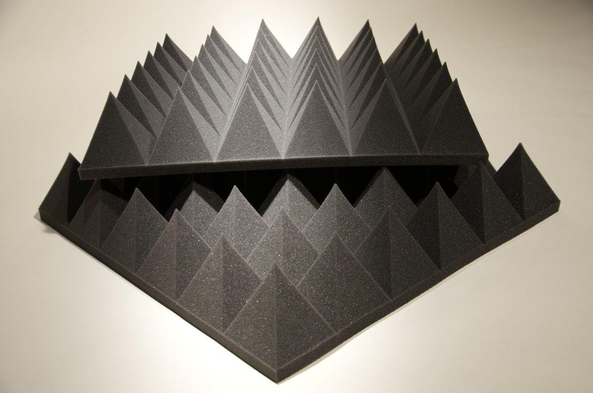 Акустическая панель Ecosound Пирамида XL 120мм mini 0,6х0,6м из акустического поролона