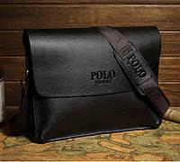 Мужская сумка. Бизнес сумка. Повседневная офисная стильная. Кожаная сумка портфель POLO