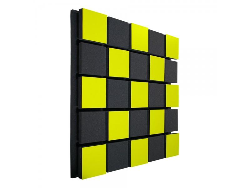 Акустическая панель Ecosound Tetras Acoustic Wood Yellow 50x50см 53мм цвет жёлтый