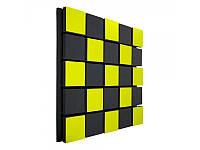 Акустическая панель Ecosound Tetras Acoustic Wood Yellow 50x50см 53мм цвет жёлтый, фото 1