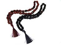 """Чётки из натурального камня """"Обсидиана""""33 бусины (черные)"""