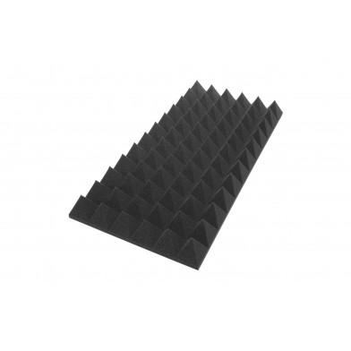 Панель из акустического поролона Ecosound пирамида XL 120мм 1,2мх0,6м черный графит