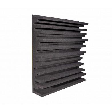 Панель из акустического поролона Ecosound Manhattan mini 100 мм, 50х50 см, черный графит