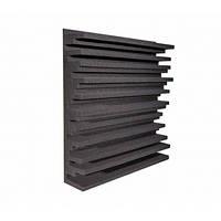 Панель из акустического поролона Ecosound Manhattan mini 100 мм, 50х50 см, черный графит, фото 1
