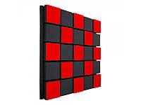 Акустическая панель Ecosound Tetras Acoustic Wood Red 50x50см 33мм Цвет красный, фото 1