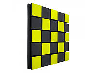 Акустическая панель Ecosound Tetras Acoustic Wood Yellow 50x50см 33мм цвет жёлтый, фото 1