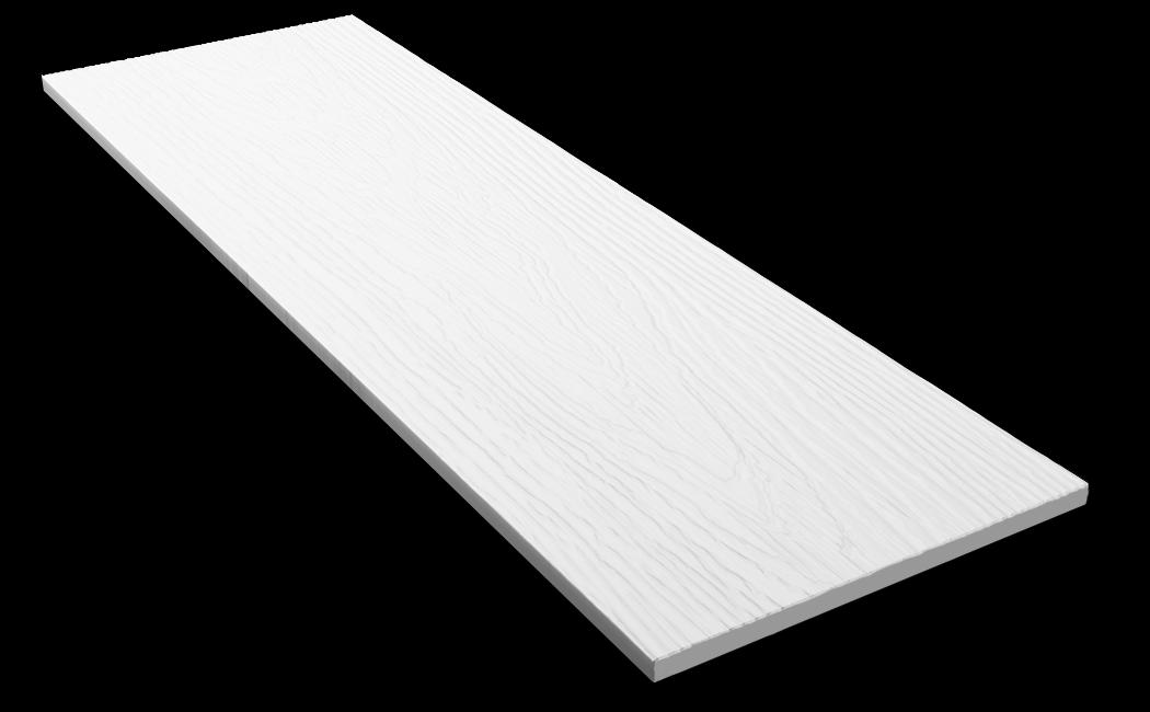 Фибросайдинг DECOVER snow (белый) 3600*190*8 мм