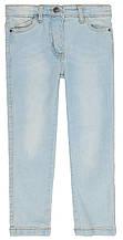 Детские джинсы для девочки голубые однотонные