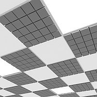 Акустическая плита для подвесных потолочных систем Ecosound Tetras Armstrong 600х600х25мм серый, фото 1