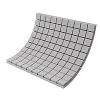 Панель из акустического поролона Ecosound Tetras Gray 100x100 см, 100 мм, серый, фото 1