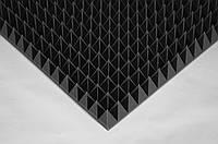 Акустическая панель Ecosound пирамида 90мм Mini,черный графит 50х50см из акустического поролона, фото 1