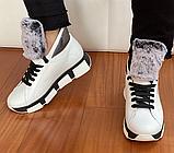 Ботинки женские зимние белые, фото 4