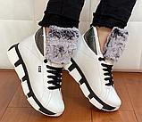Ботинки женские зимние белые, фото 5