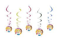 Спиральки, гирлянда праздничная Принцессы Дисней. Бумажная праздничная посуда.